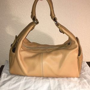 Authentic Tod's Buttery Cream colored hobo bag